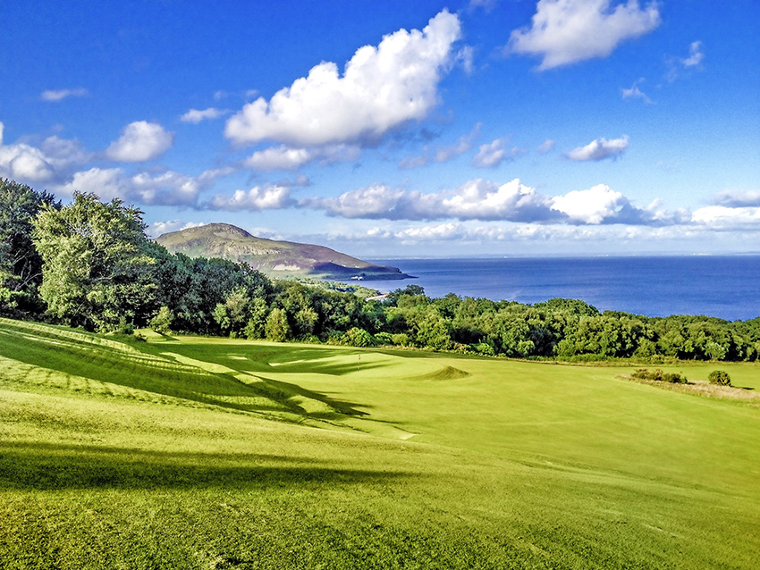 A view over the 14th green at Whiting Bay, which bemuses and enchants in equal measure.