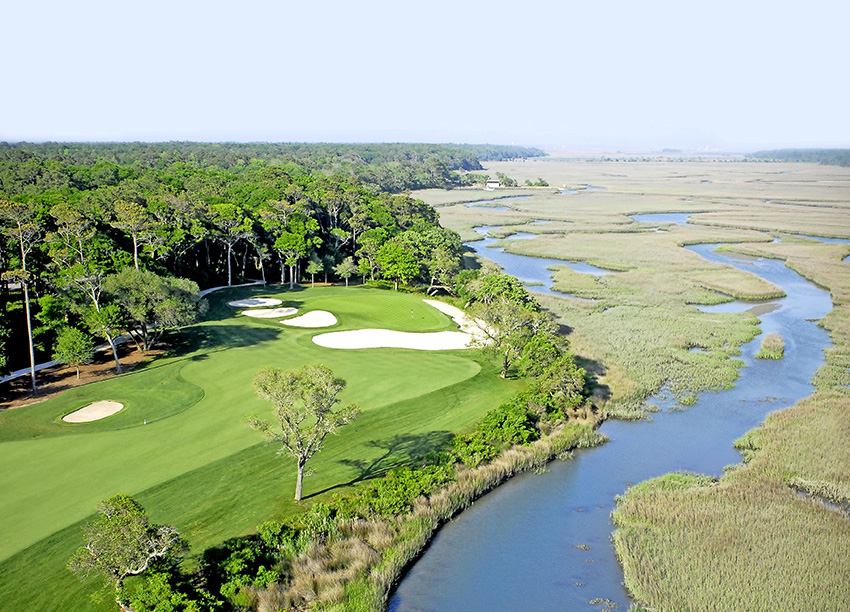 The classic wetlands course experience is on offer at Tidewater.