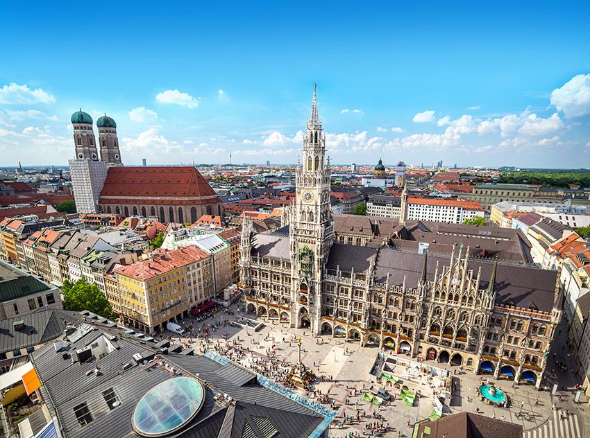 Munich is a thriving, cosmopolitan city.