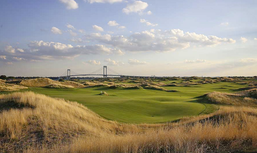 It's pricey for a public course but it oozes class – Trump Ferry Point.