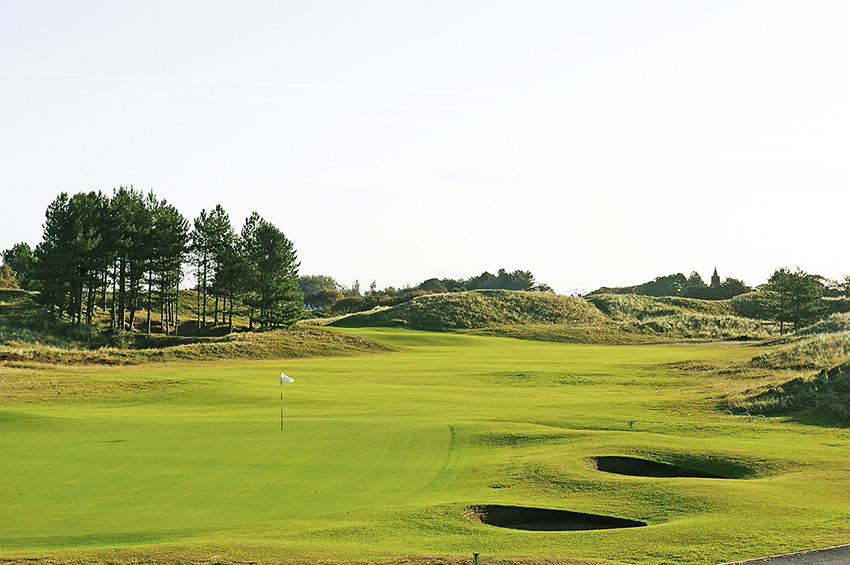 The 6th hole at Southport & Ainsdale – a former Ryder Cup host.