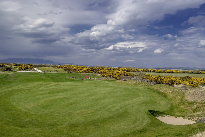 The new 12th green at Kilmarnock GC (Barassie). Photo by Kenny Smith.