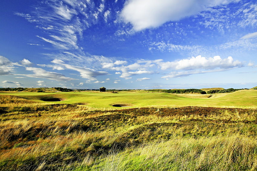 Hallowed turf: the par-5 5th at St Andrews' Old Course was one of nine holes to escape any alteration ahead of the 2015 Open Championship..
