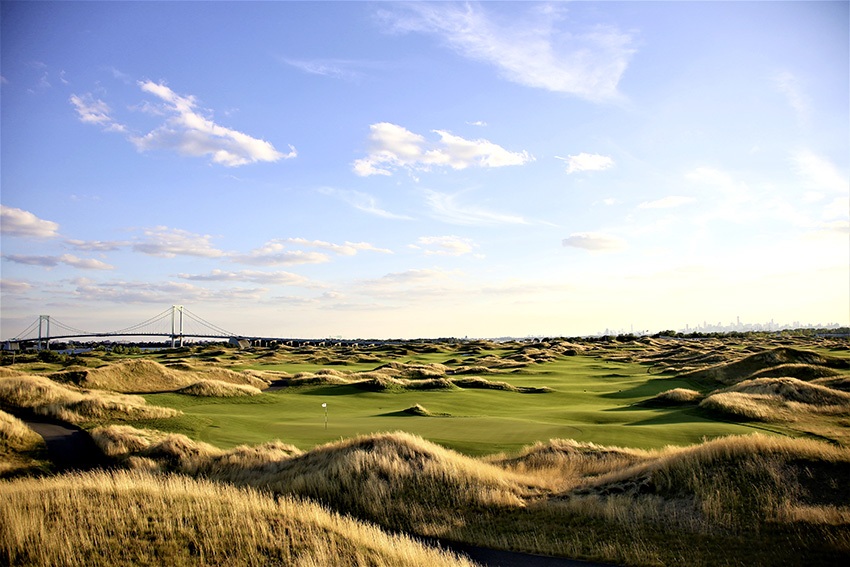 Fifteen miles from Manhattan, you'll find – and should play – Trump Ferry Point.