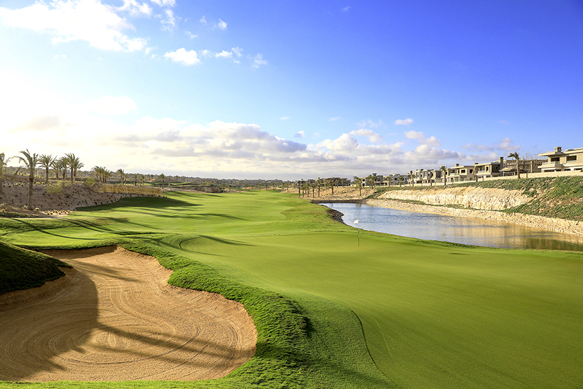 The 12th hole at the New Giza Golf Club in Egypt.