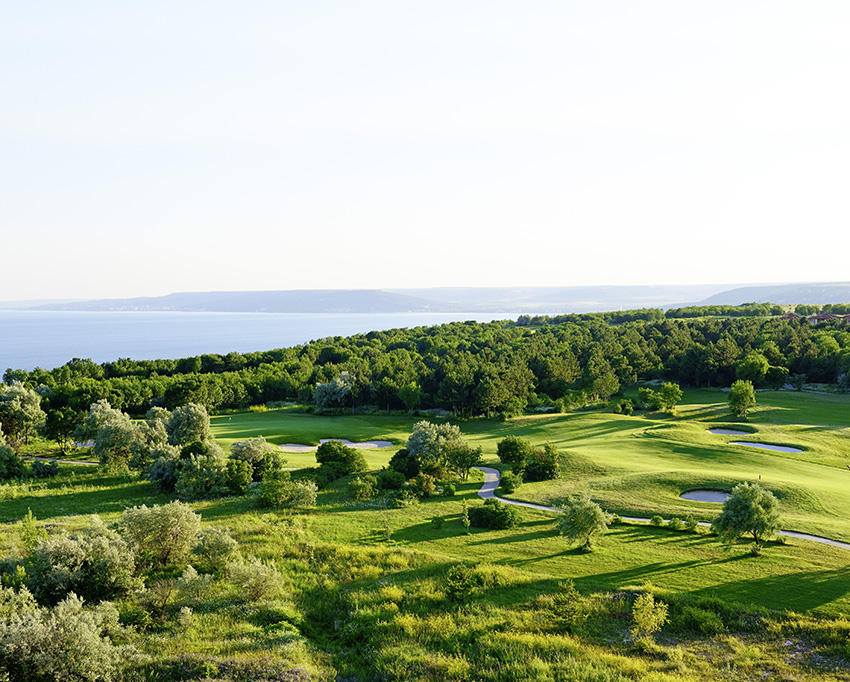 The 13th hole at the Ian Woosnam-designed Lighthouse course.