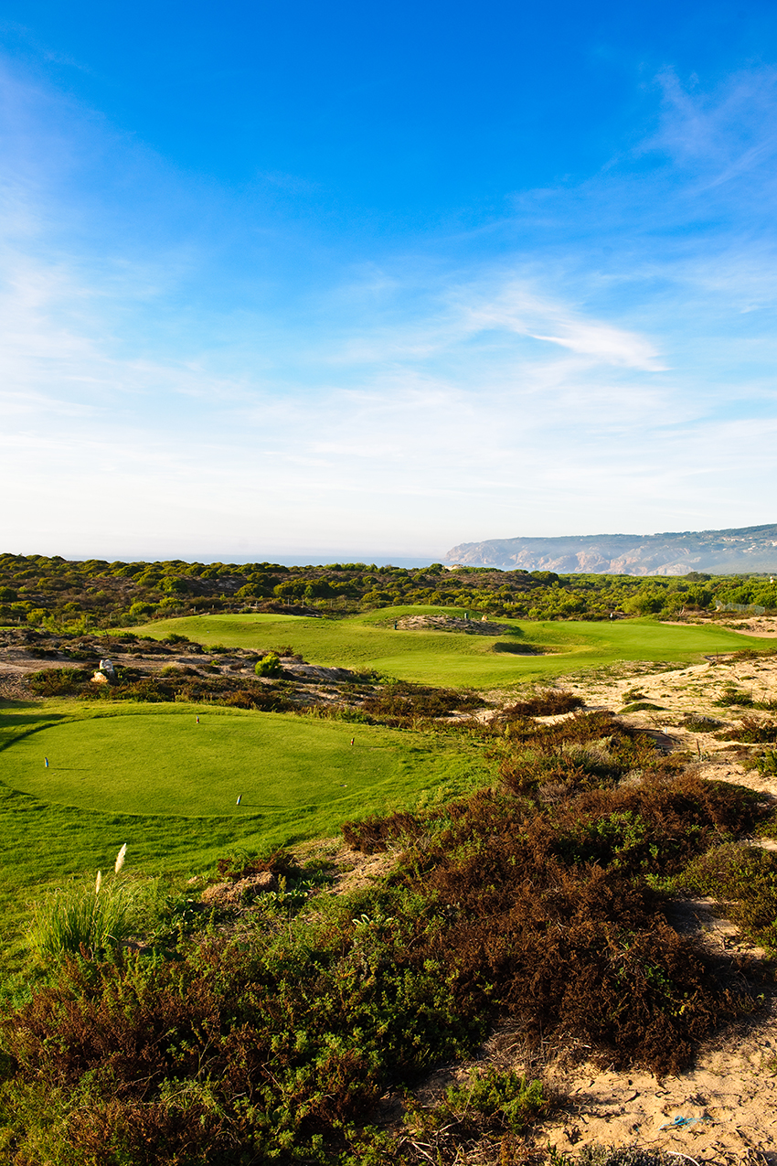 The Ocean view from the tee of the short 9th is breathtaking.