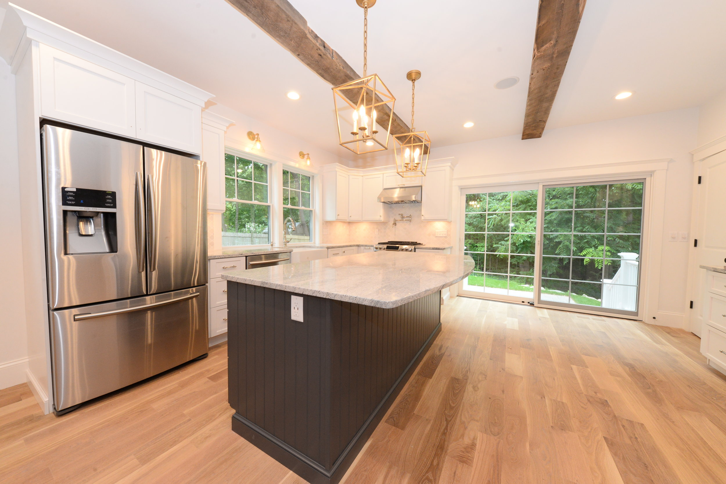Hersey's completed kitchen.