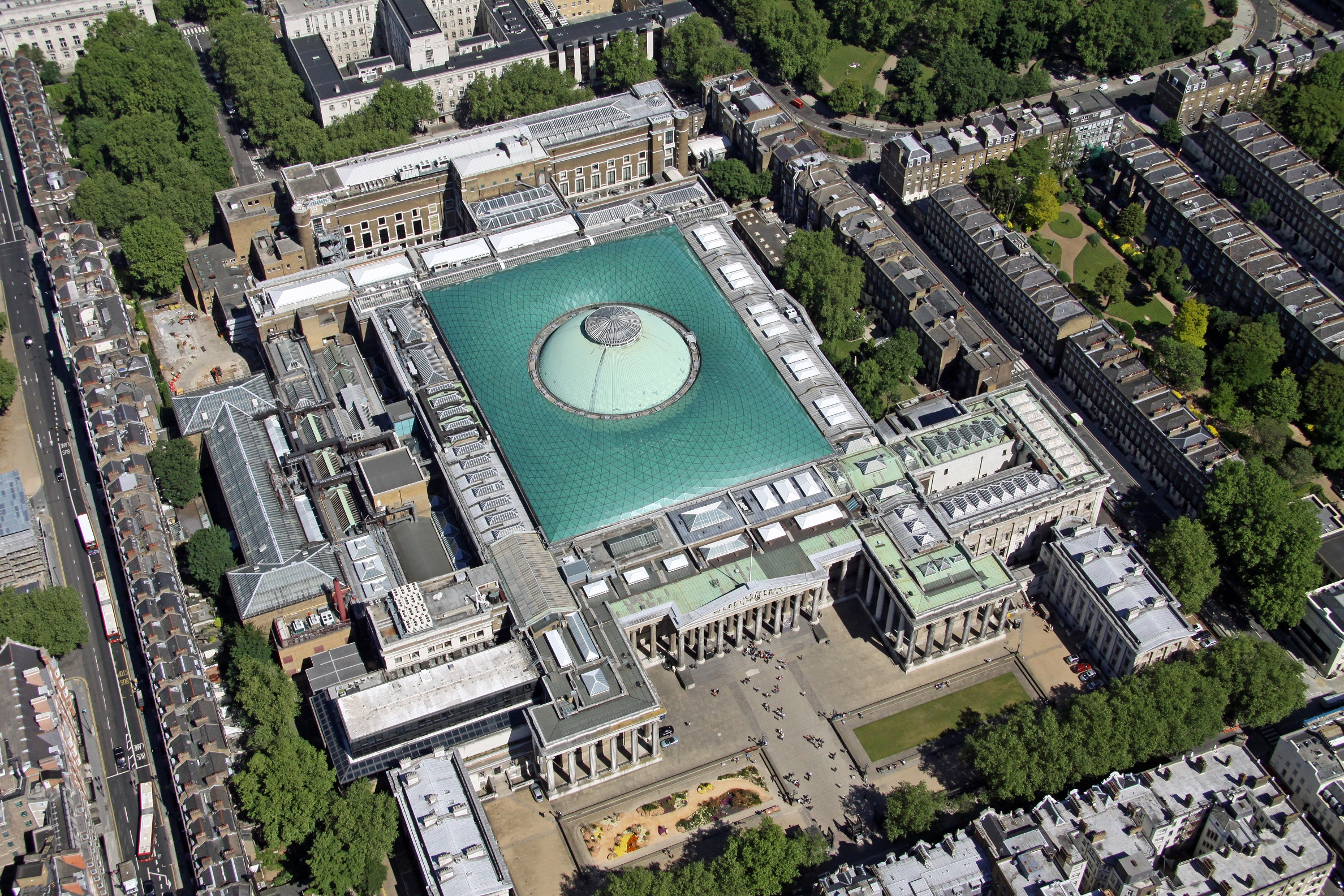Ariel view of The British Museum.