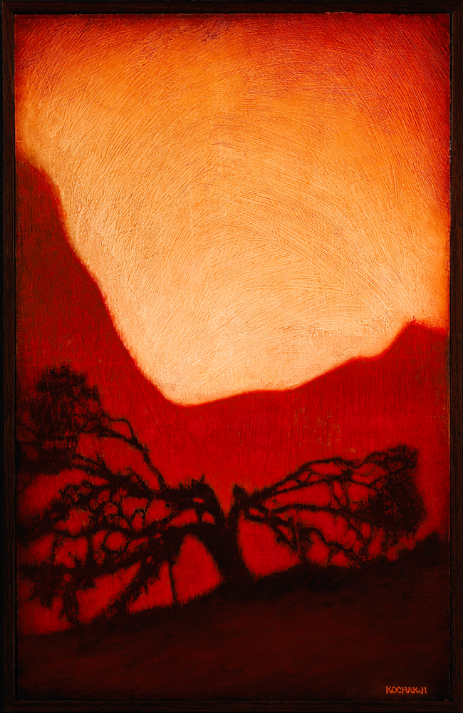"The Blasted Oak - oil on panel - 11x17"""