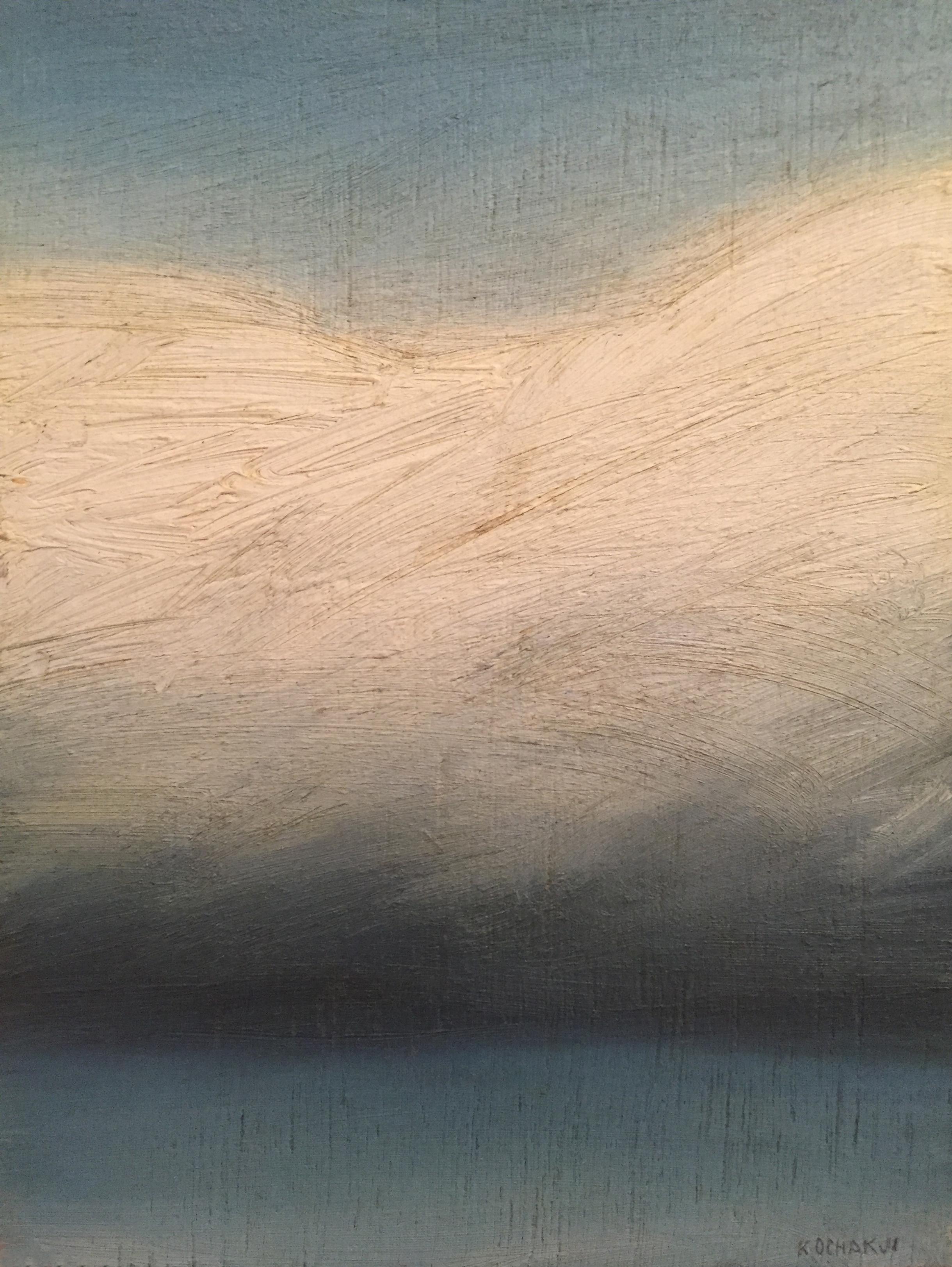 """Cloud Portrait - oil on panel - 5x7"""""""