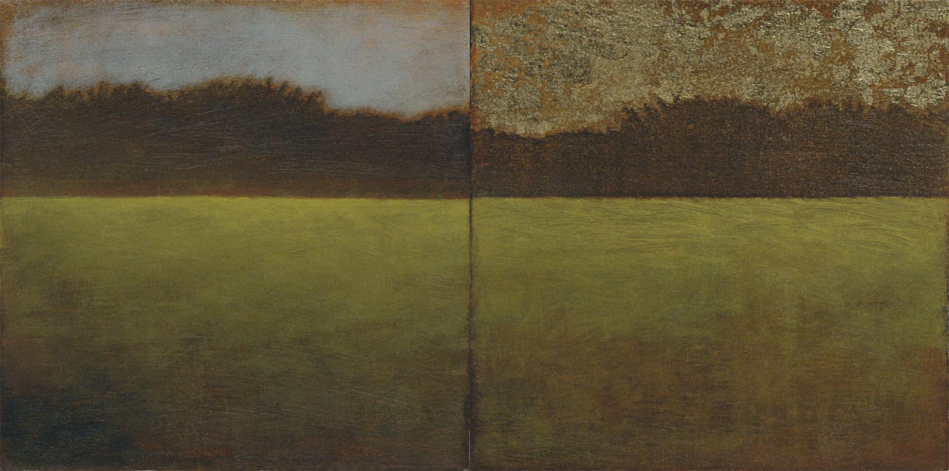 """Diptych - oil on canvas - 5x5"""" (each)"""