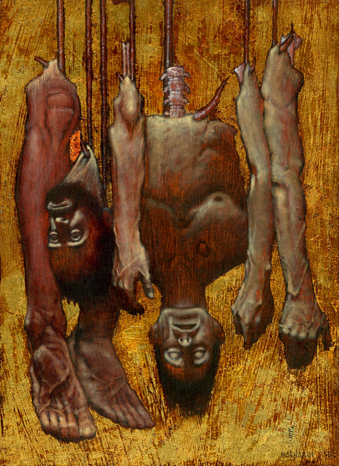 """The Collected Body Parts of Dr. Frankenstein - oil on panel - 8x10.5"""""""