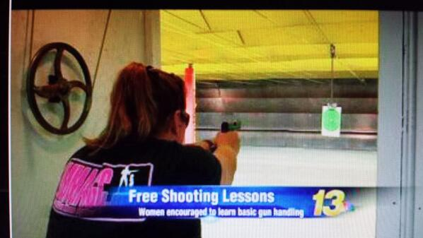 Mary Callison attending a range day at Pine Tree Pistol Club