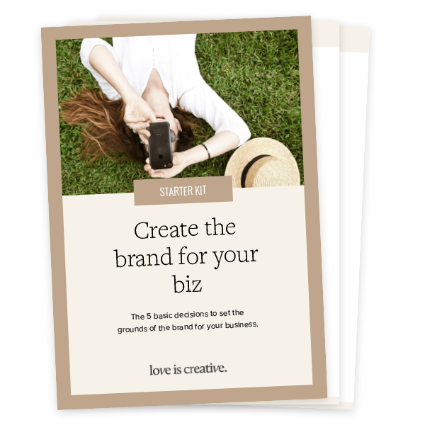 Create the brand for your business Starter Kit - Love is Creative