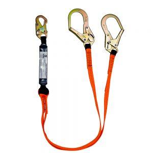 VLINE 6' Dual-Leg Shock Lanyard w/ Rebar Hooks