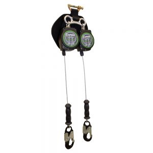 11' Dual Leg Leading Edge Cable Retractable with Aluminum Snap Hooks