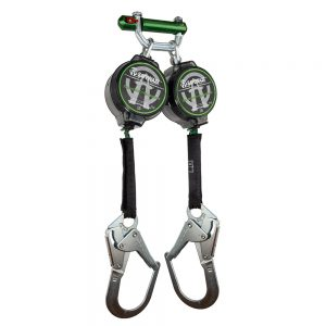 7' Lightweight Dual Leg Web Retractable with Steel Rebar Hooks