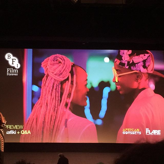 Went to see the preview of Rafiki at the BFI Flare Festival, a while back. A film of love between two women in Africa.  Using colour as language, bright, loud colours represent the outside world. Softer colours reflect the intimacy between the protagonists. Clothes and wardrobe reflect the emotional state of the women. And the music was banging. Loved it!  That said, I think more work could have been on building up the relationship between the two. We need to see more clearly the basis of their attraction. But it was very entertaining, nonetheless!  Side news: The Kenya Film Board banned the film because the ending was not remorseful. They lifted the ban for 7 days to enter the Oscars. And subsequently, the film sold out, more than Black Panther! Haha!  #shareyourstorywithconfidence #alwayslearning #watchingfilms #bfi #bfiflare #bfiflare2019 #rafiki #lgbtlove #whenwomenlovewomen #lesbianfilms #kenya #kenyafilms
