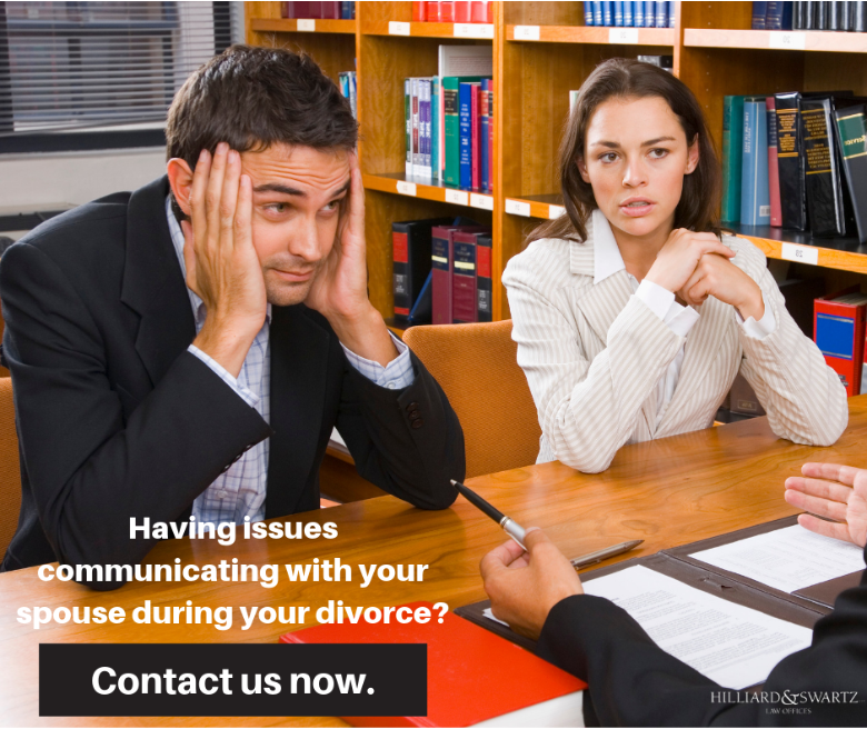 Having issues communicating with your spouse during your divorce? Contact us now.