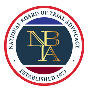 National Board of Trial Advocacy Emblem. NBTA established 1977.