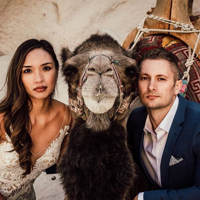 When your camel's Blue Steel is as good as yours... Hold. My. Beer.  I couldn't stop laughing while editing this.  Lyla the Cappadocian Camel - We owe you forever and ever. Peace out. #elopement #elopementlove #elopementphotographer #authenticlovemag #loveauthentic #elopementlove #wanderingweddings #couple #adventureweddingphotographer  #adventureelopement #visitcappadocia #cappadociaturkey #cappadociaballoon #cappadociawedding #elopementcollective #radstorytellers #dirtybootsandmessyhair #cappadociaelopement