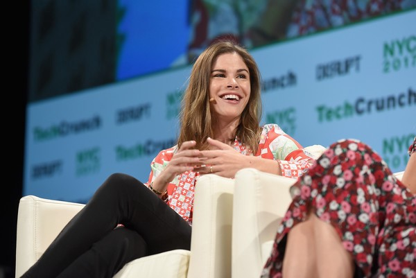 Emily Weiss, CEO and Founder of  Glossier  at Tech Crunch Disrupt in NYC. Glossier started as a beauty blog and turned into a (recently valued) billion dollar brand. #ContentGoals