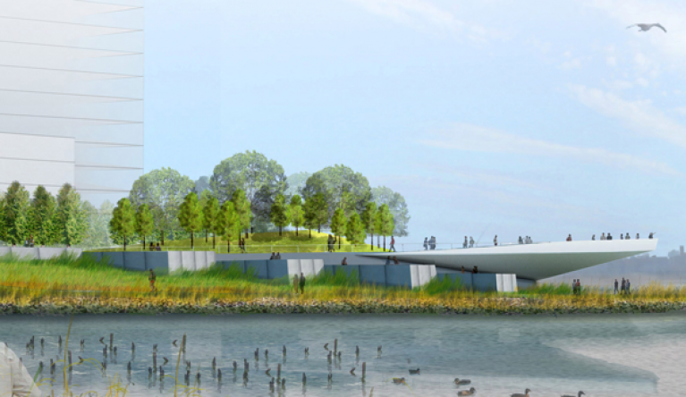 Hunter's Point South  Plan: This master plan provided open and recreational space to a fast-growing area of Queens that was lacking such amenities.