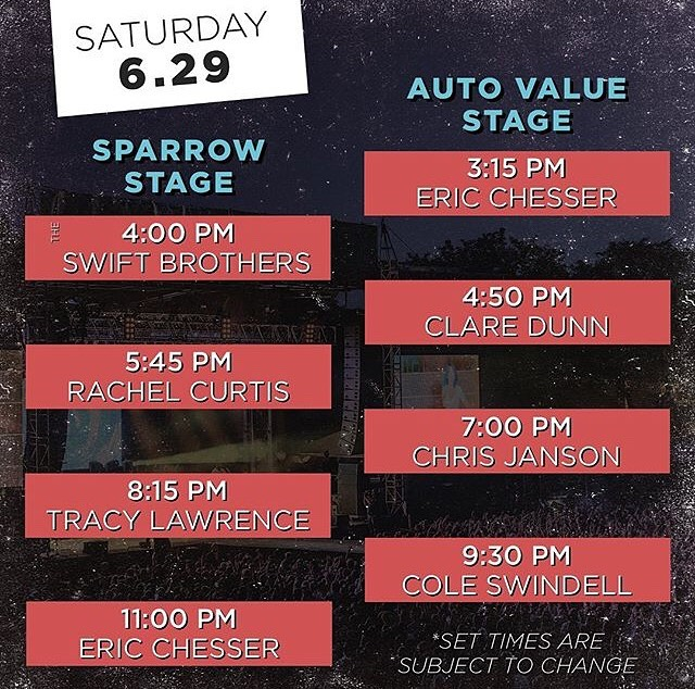 Here's a reminder of today's set times! Save to your phone, so you don't miss your favorite artist! #cgmf19