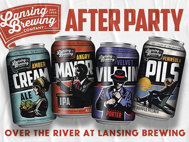 Just 'cause the last song plays, that doesn't mean the party is over! Head over to Lansing Brewing Company for an afterparty. It's just a 7 minute walk, and you'll be feelin' hoppy. #lovelansing