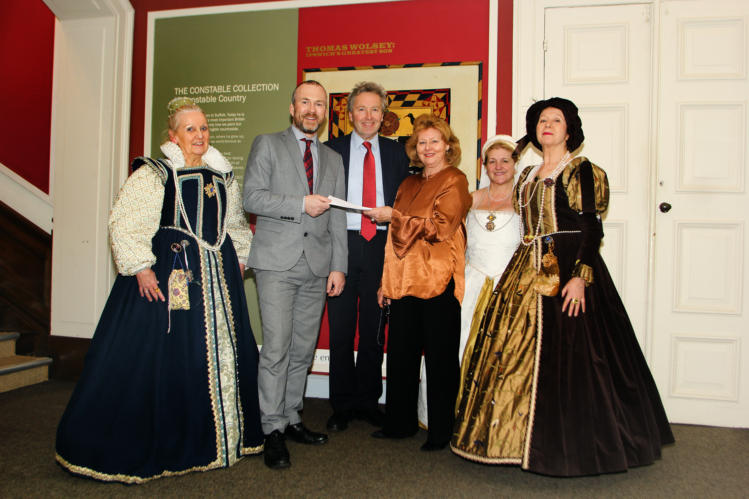 The Museum Manager Receives a Cheque from the Friends