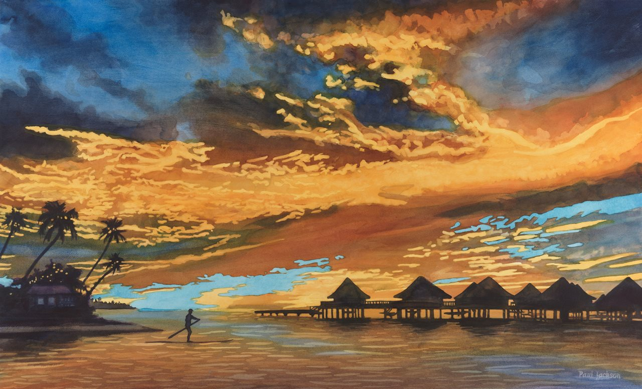 Sunset Bora Bora