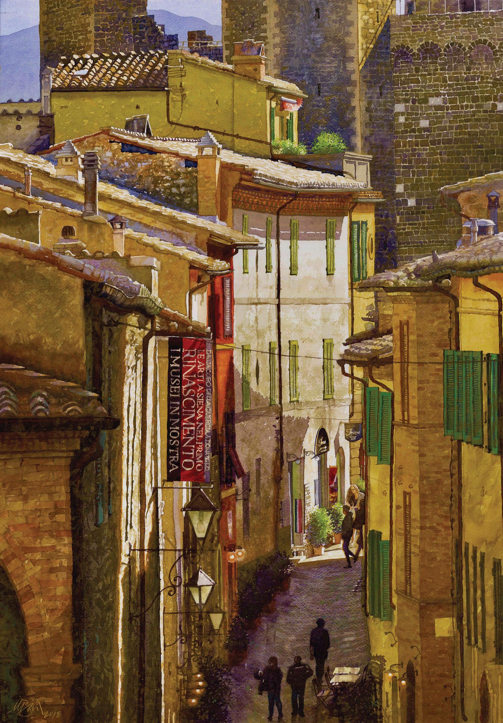 Via Cialdini, Moutalcino, Italy