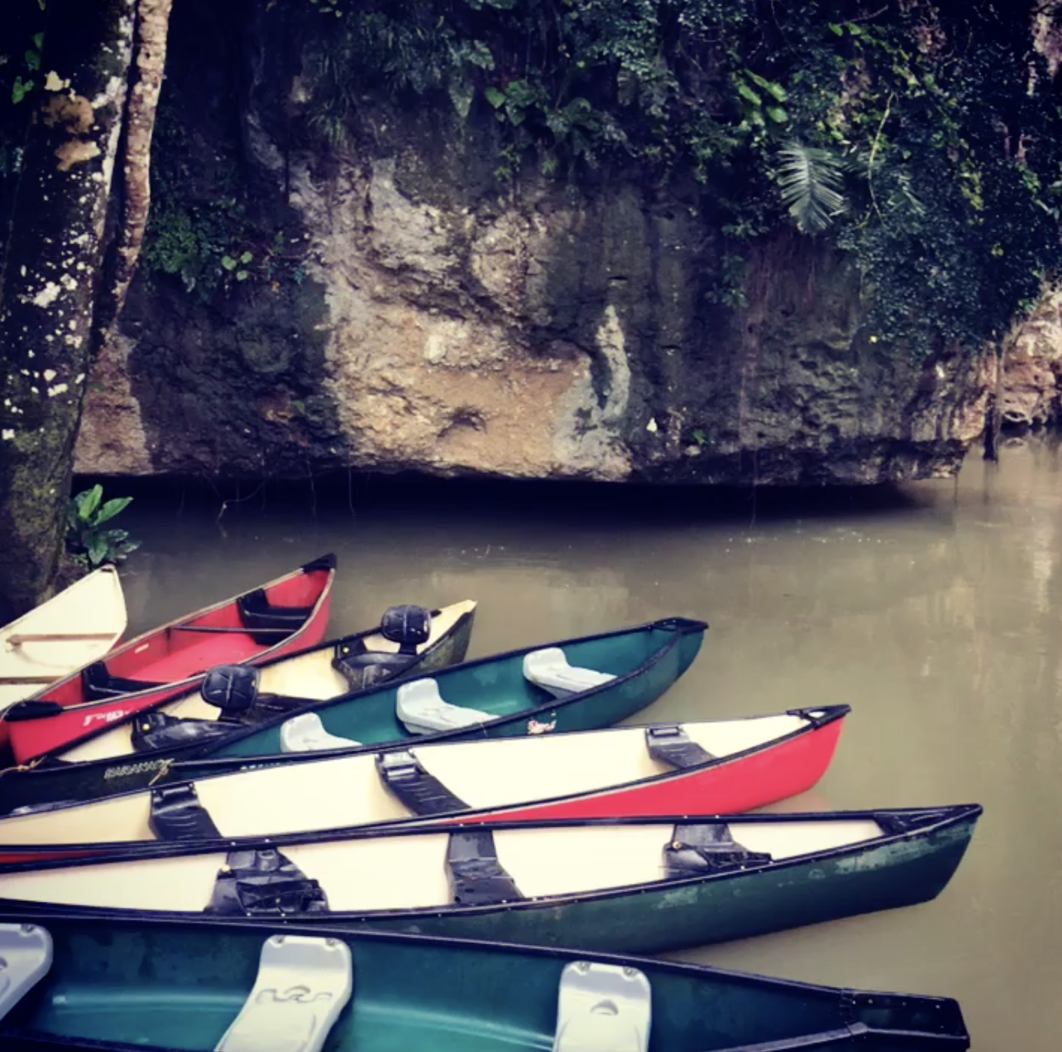 Canoeing through the Caves