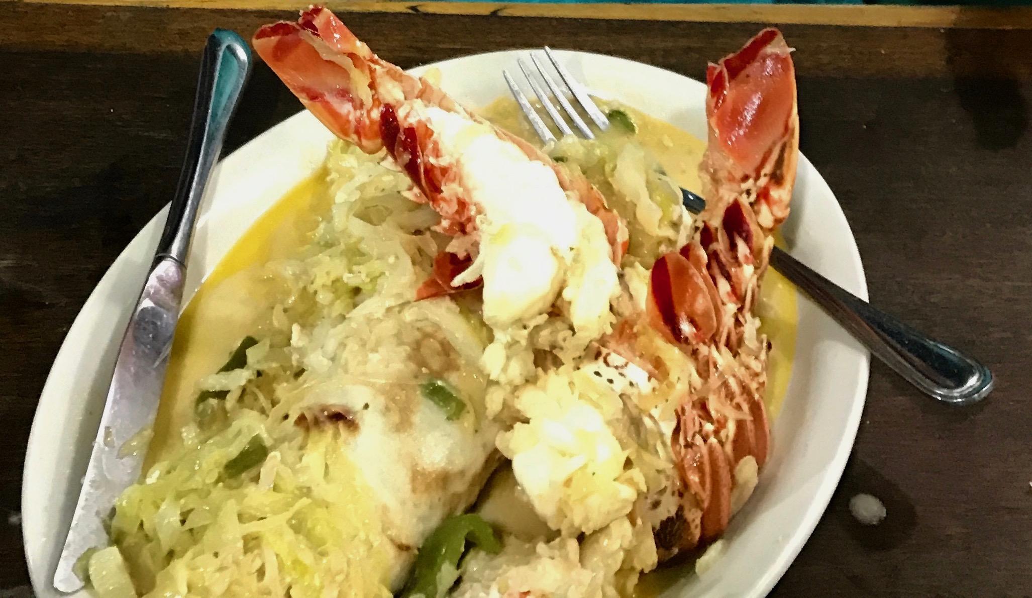 Ginormous Lobster Burrito