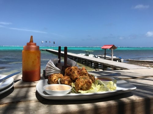 Conch Fritters and what a view!