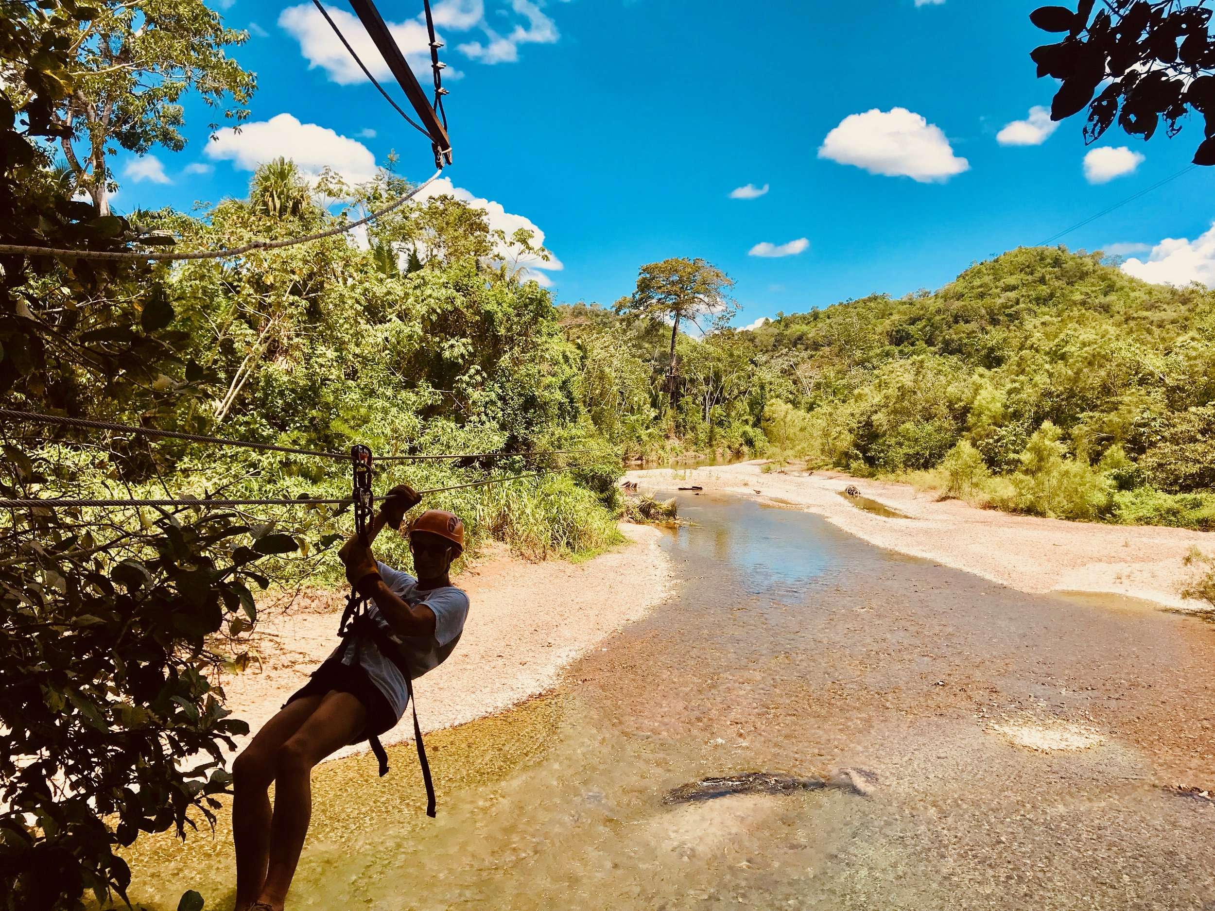 Zip Lining at Cave Branch