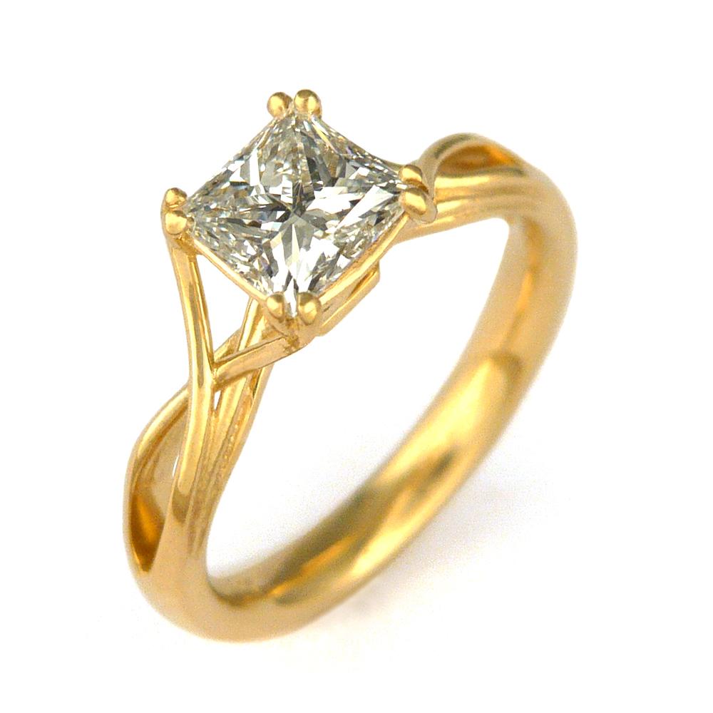 10k White Gold 0.25ct Princess Cut Diamonds Channel Set Wedding Anniversary Band