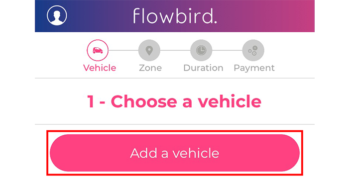 Register For Flowbird Pay-By-Phone Parking  On A Mobile Device
