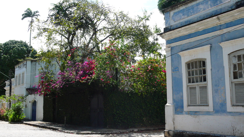 Old stone houses in Recife, Brazil.