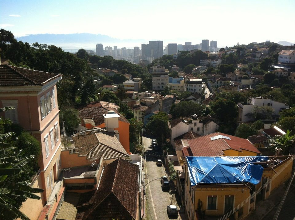 View from Santa Teresa over downtown to Guanabara Bay