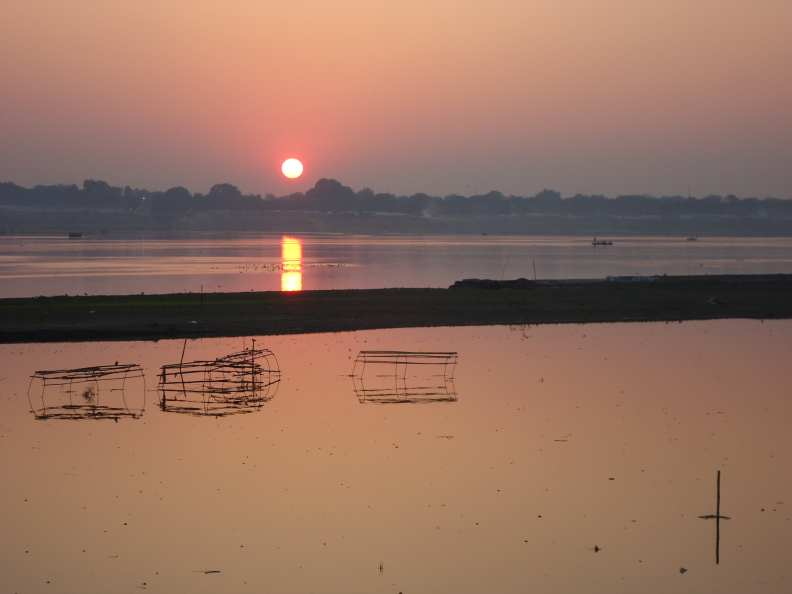 Sunset downstream from the Mela