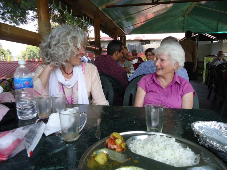 Sherry, Sylvia and I go into town for lunch–breaking out!