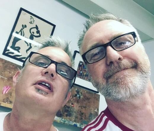 Nick with Jeff Marshall in the studio… world leading teachers are arriving at the studio developing the way we deliver our courses