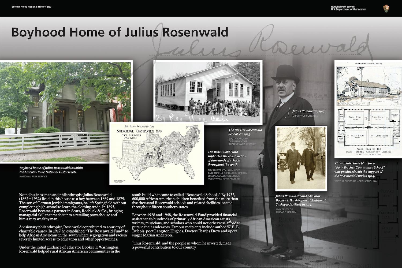 Rosenwald boyhood home historic marker 4.png