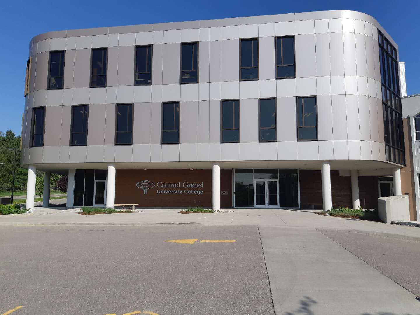 Waterloo New Life gathers at Conrad Grebel University College, where students can easily find them.