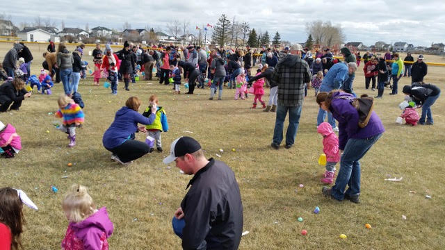 Annual Langdon Easter Party, of which The Neighbourhood Church is a major sponsor and volunteer help.