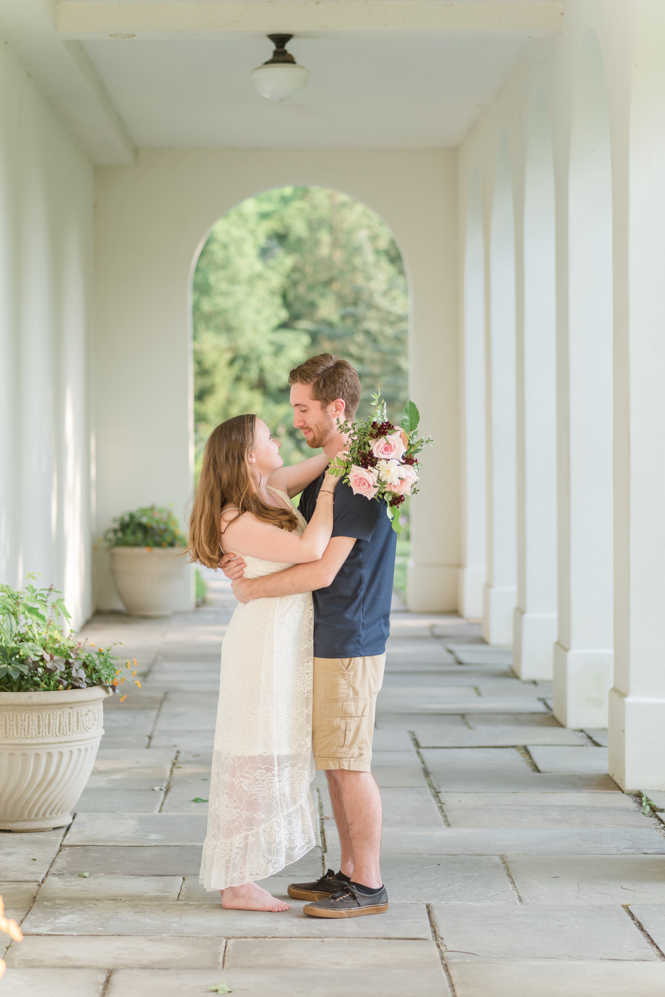 Spring Engagement Session at Newfields Indiana Museum of Art Wedding Photographer-5.jpg