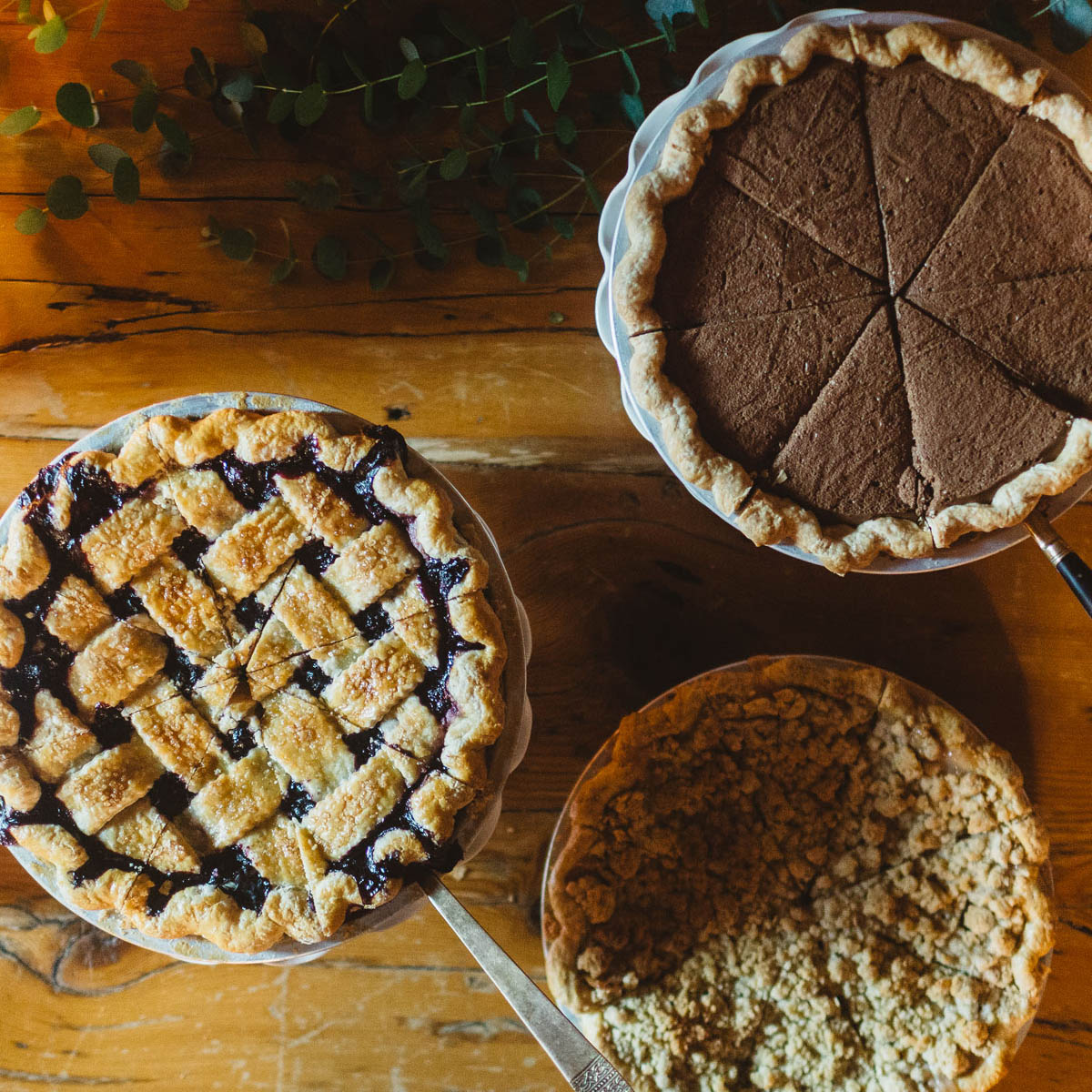 House-baked pies, or novelty mini-cakes round out Big Tree Catering's Family-Style dinner.