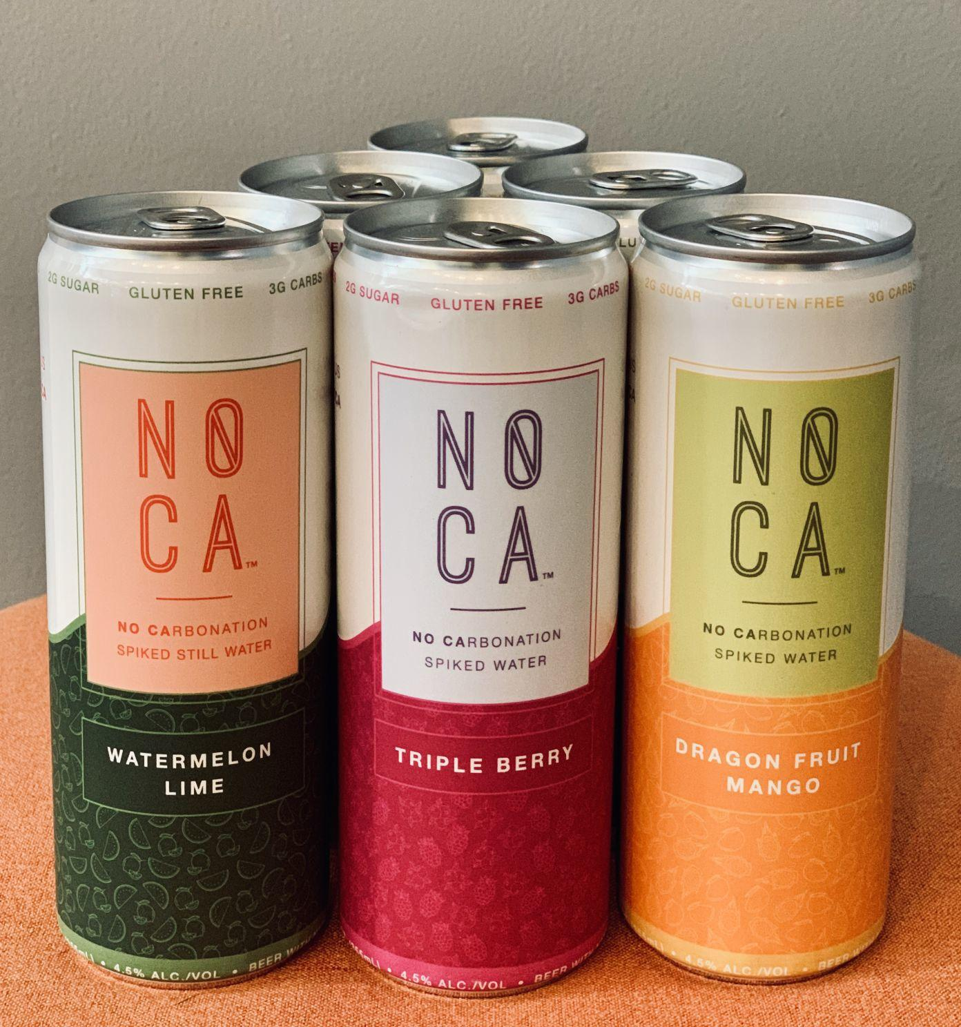 NOCA, a new non-carbonated spiked water, will launch in roughly 100 New Hampshire stores. A six-pack will cost between $8.99 and $9.99.